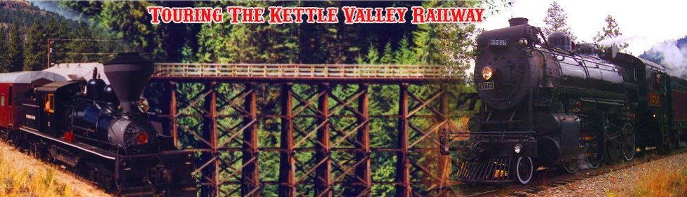 Kettle Valley Railway Map  Touring The Kettle Valley Railway